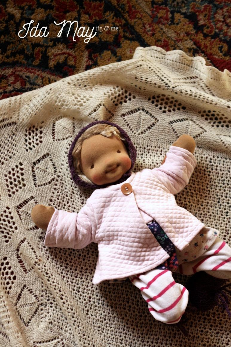 Ida May, a natural fiber art doll by Fig and Me.