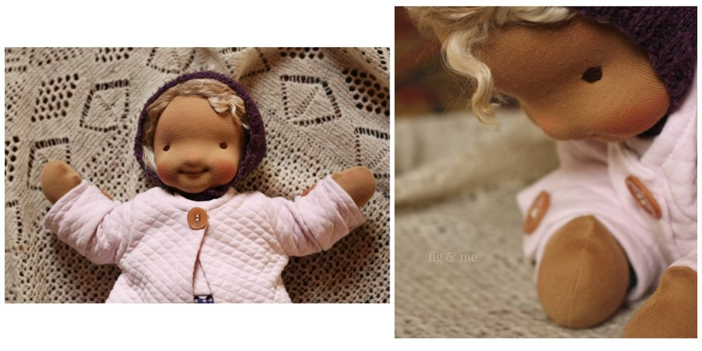 Ida May, a cloth baby by Fig and Me.
