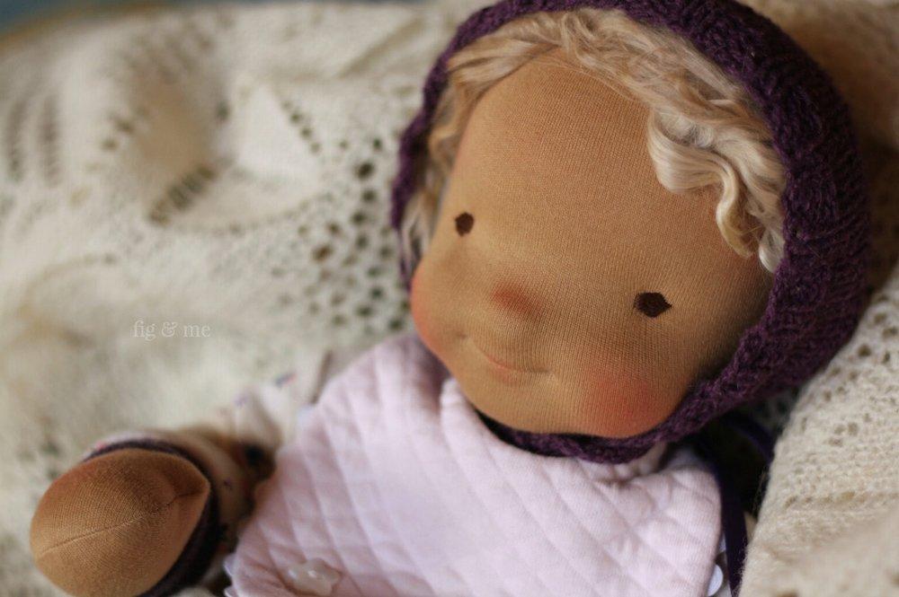 Ida May, a natural cloth baby doll by FIg and Me.