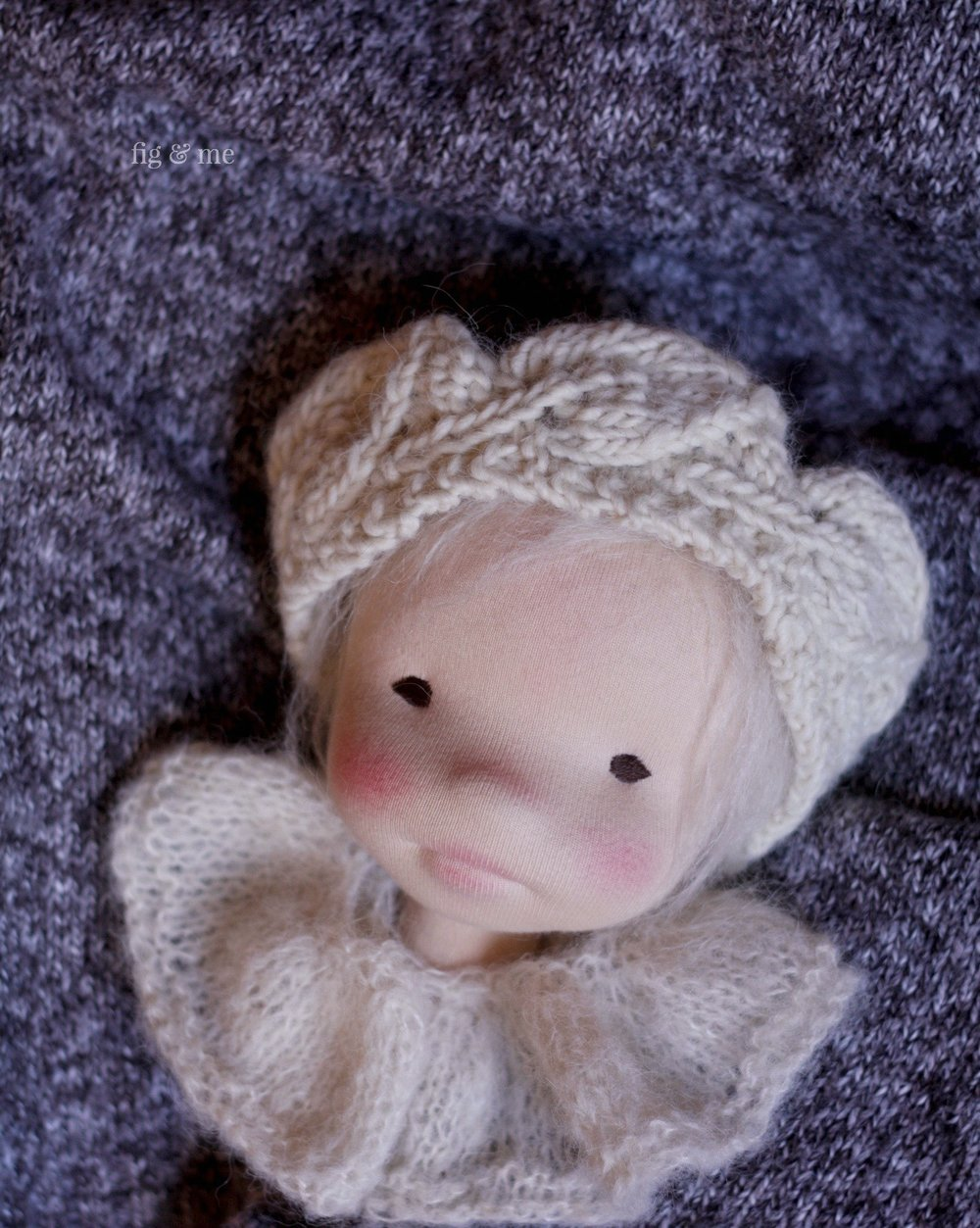 My love. A beautiful (if I say so myself) little wool child in doll form. By Fig and Me.
