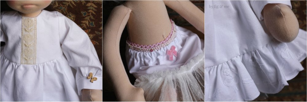 Little details of Raisa's princess dress. By fig and me.