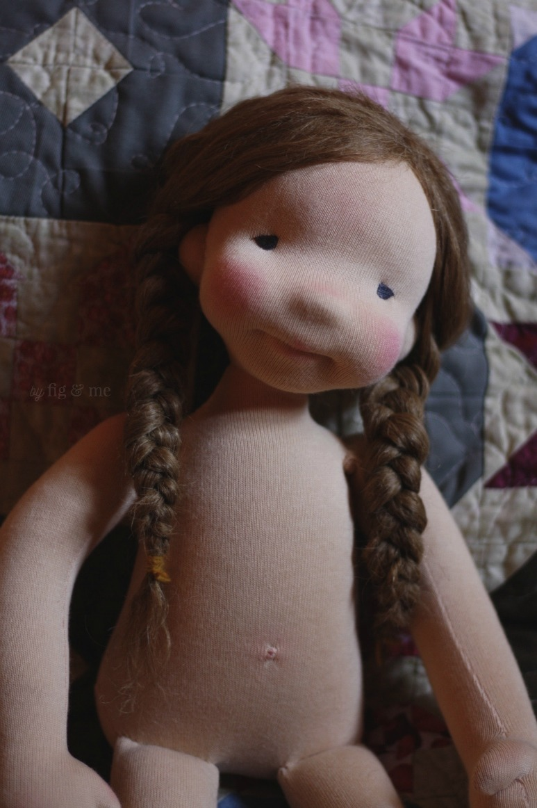 Robin, an all-natural cloth art doll by Fig and Me.