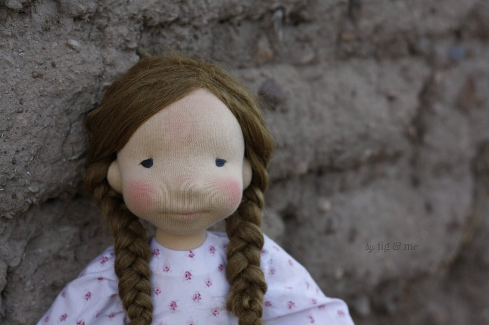 Robin, an all natural cloth art doll, waldorf inspired. By Fig and Me.
