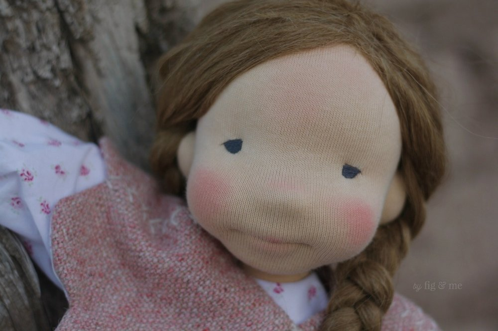Sweet Robin, a natural waldorf-inspired doll, by Fig and Me.