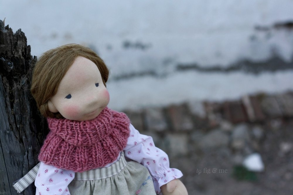 Miss Robin, a natural fiber art doll by Fig and Me.
