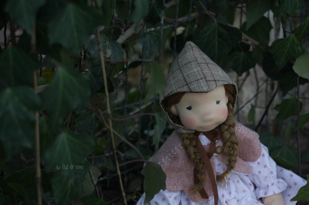 Little Robin, a natural fiber art doll by Fig and Me.