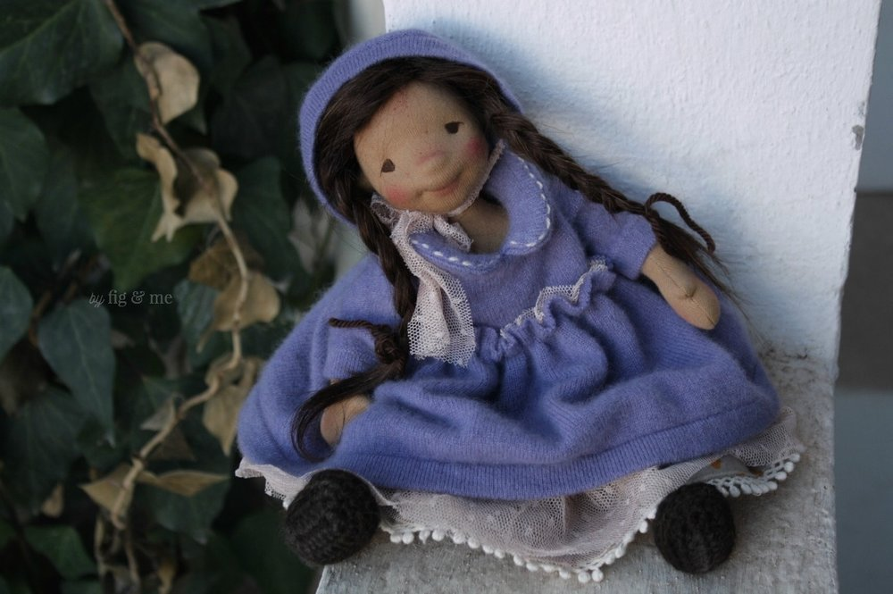 Eileen, a natural cloth art doll, waldorf inspired, by Fig and Me.