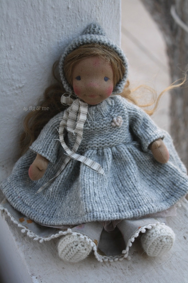 Ethel, a natural cloth art doll by Fig and Me.
