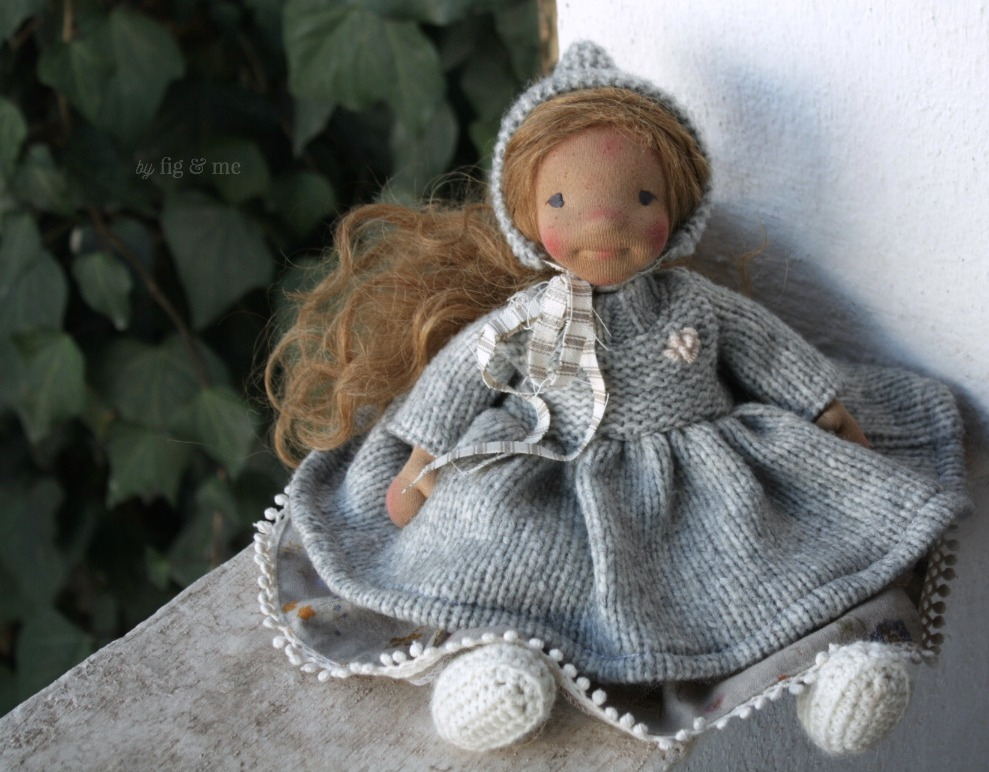 Ethel, a natural fiber art doll by Fig and Me.