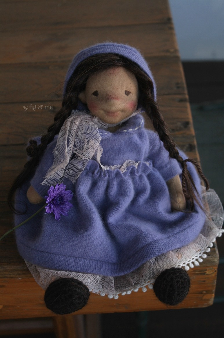 Eileen, a natural fiber art doll by Fig and Me.