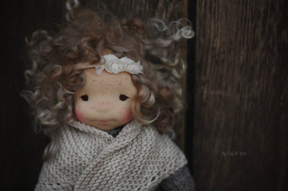 Morwen, a natural fiber art doll by Fig and Me.