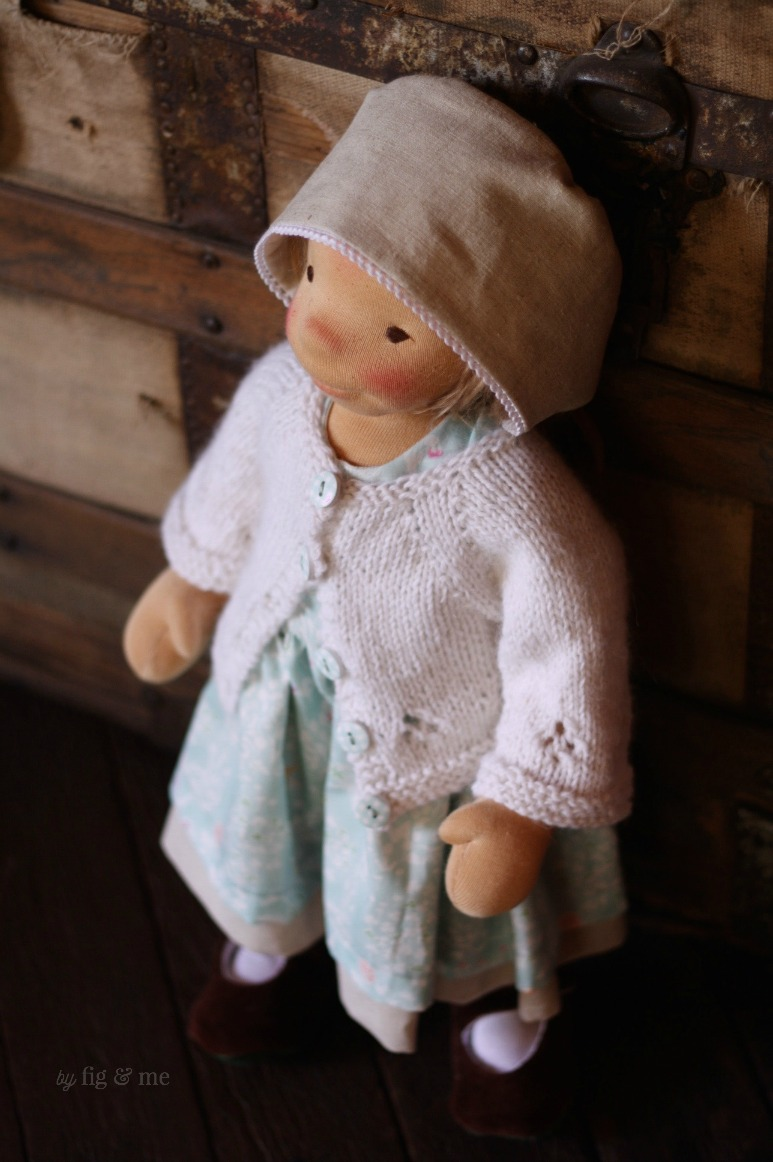Little Ada, a natural cloth art doll by Fig and Me.