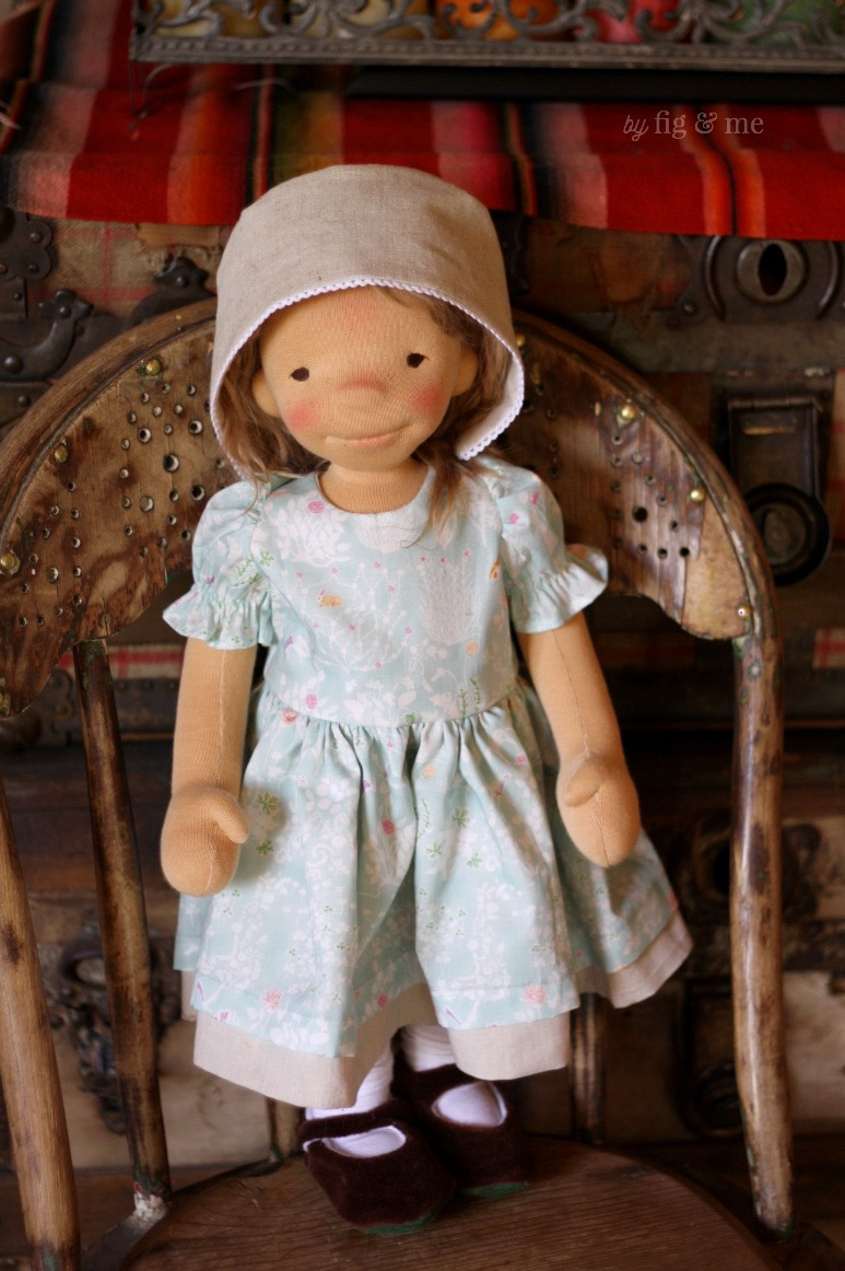 Little Ada, a natural fiber art doll by Fig and Me.