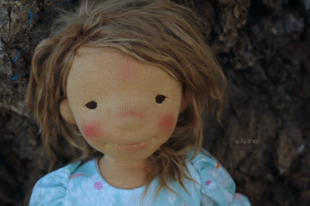 Ada, a natural fiber art doll by Fig and Me.