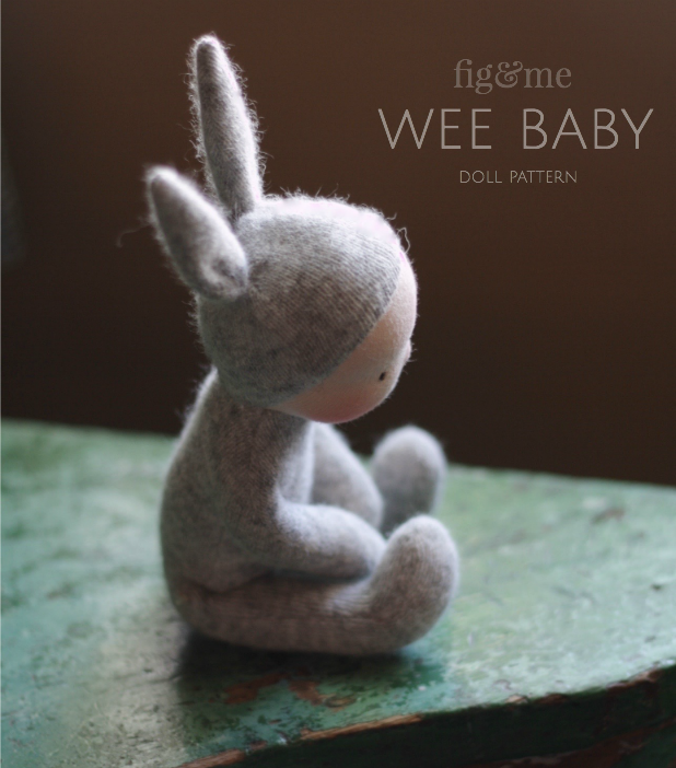 Create a little bunny doll, with excellent tips and step-by-step construction. Pattern by Fig and Me.