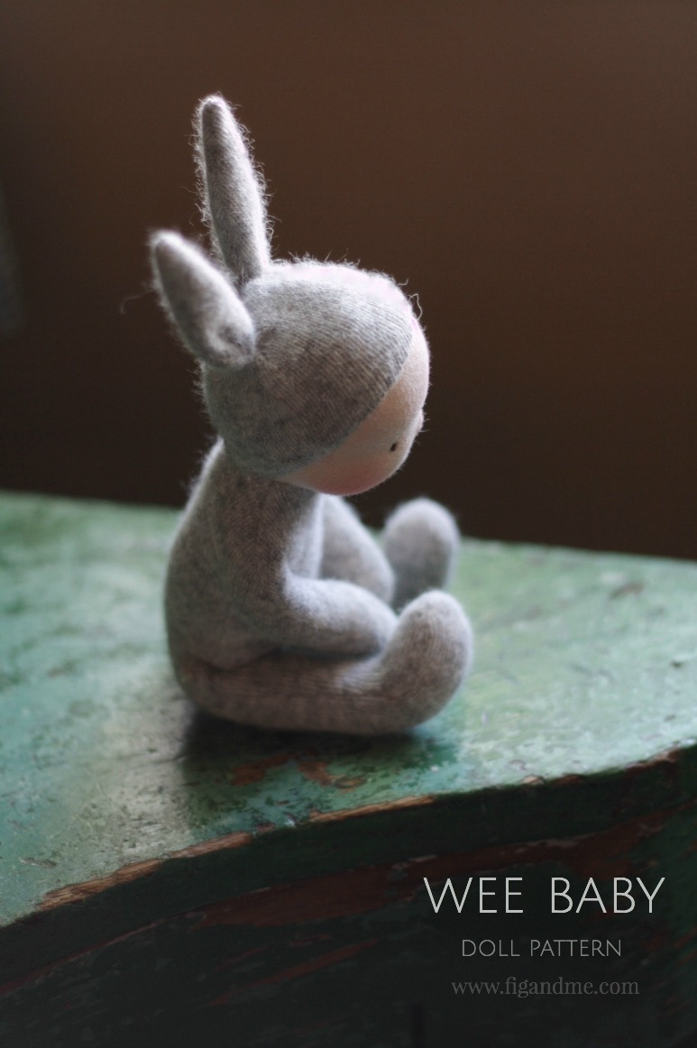 Make a little Wee Baby Bunny with step-by-step instructions. Fig and Me patterns are simple and easy to follow. Find more info on my blog.