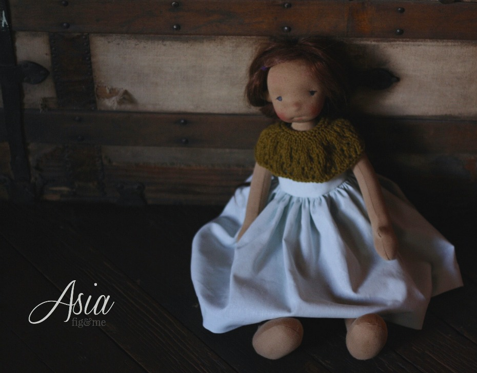Asia is a natural fiber art doll, by Fig and Me.