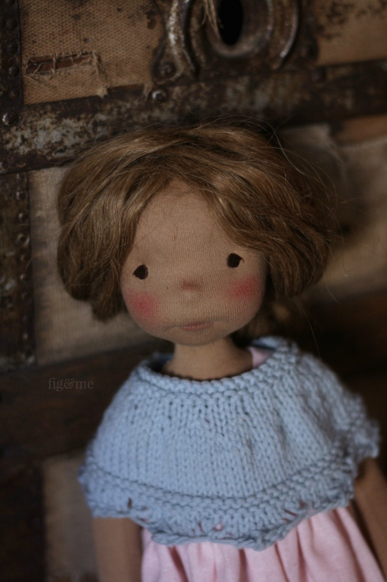 Renata is a cloth art doll, made with all natural materials by Fig and Me.