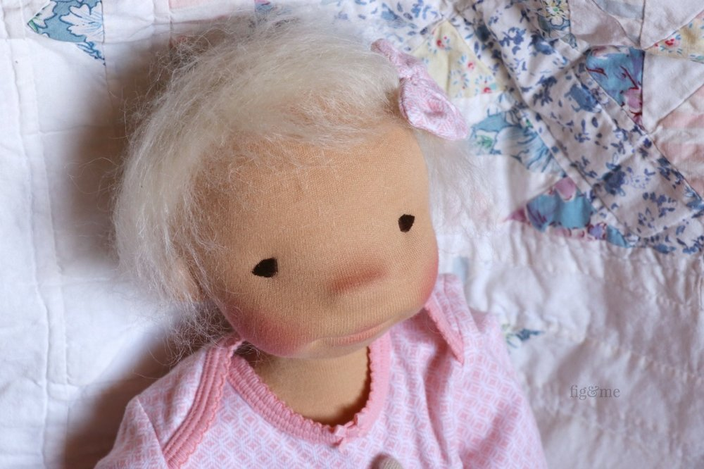 Romy, a sweet custom made art doll by Fig and Me.