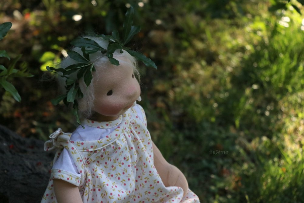 Romy in the garden, at dusk. By Fig and Me.