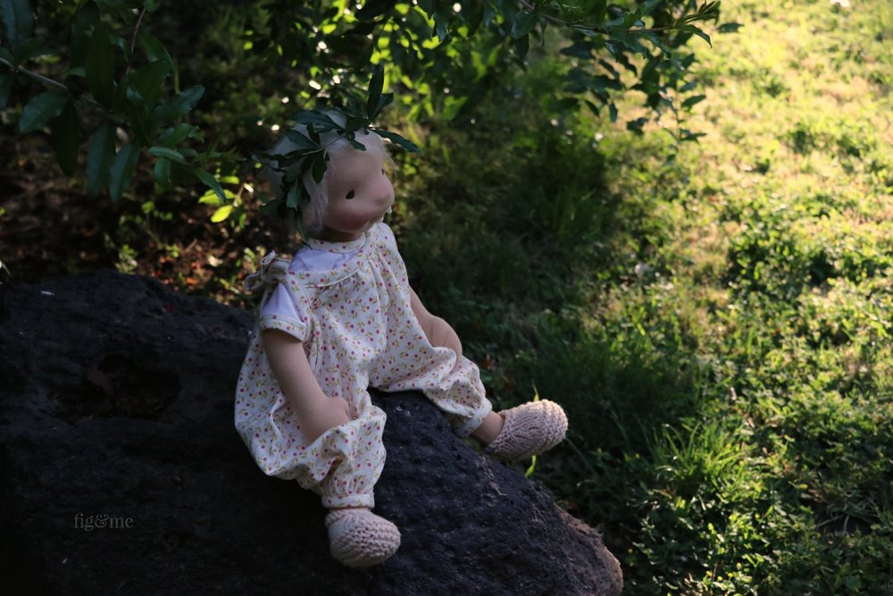 Romy in the garden, by Fig and Me.