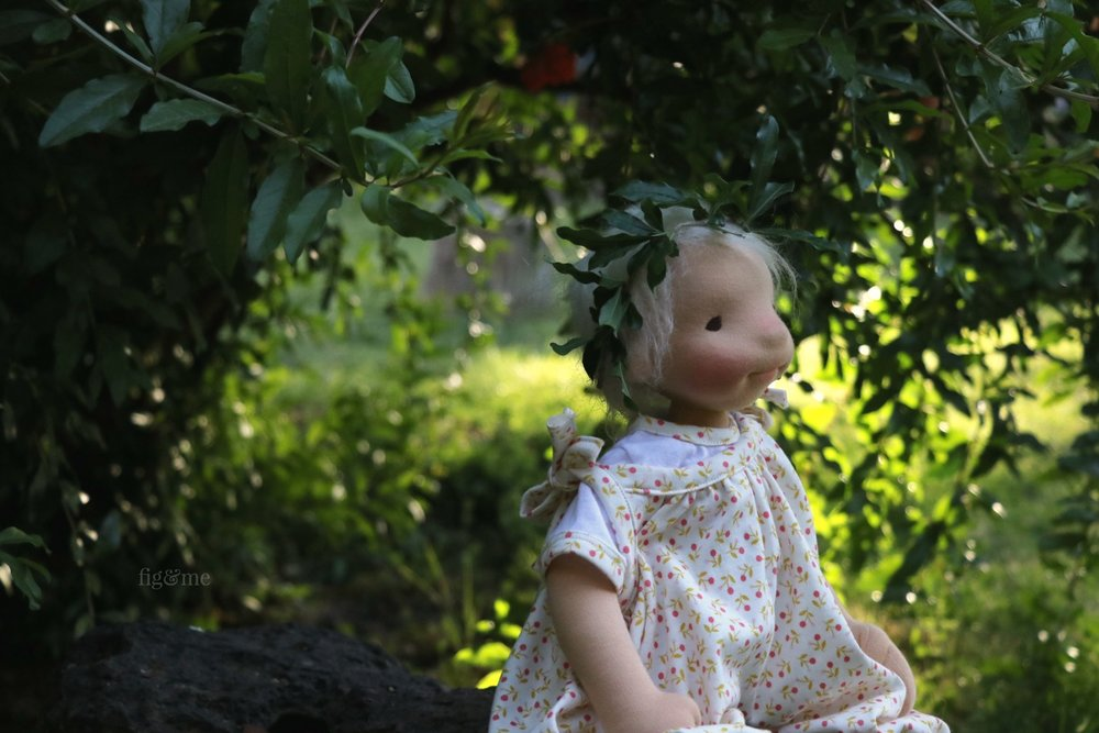 Romy in the garden by Fig and Me.