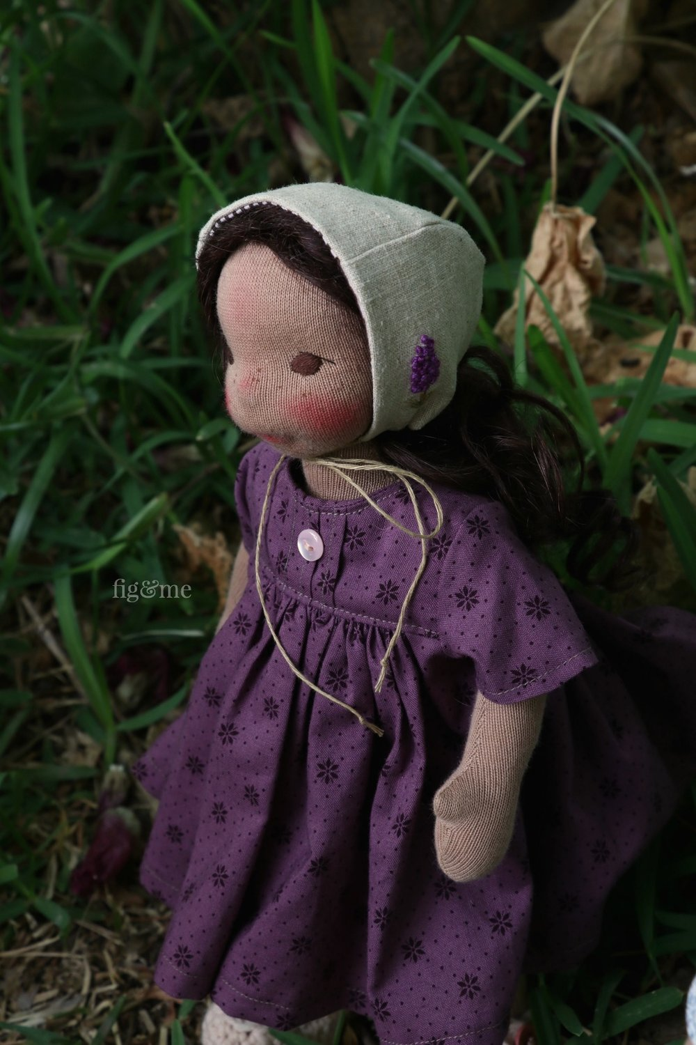 Vivie, a natural fiber art doll by Fig and Me.
