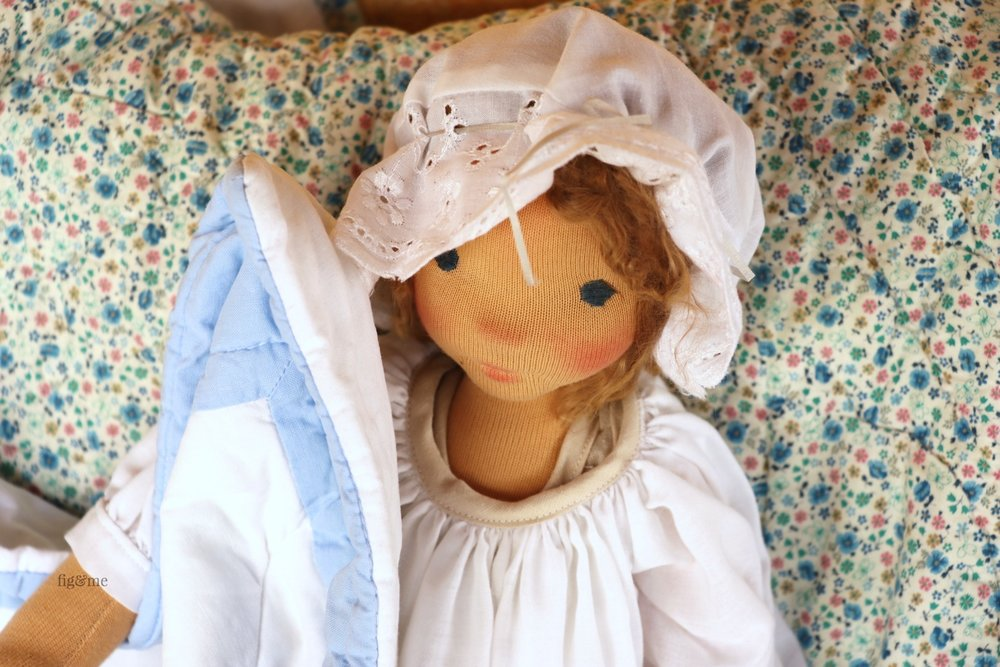 Anne, a contemporary art doll by Fig and Me.