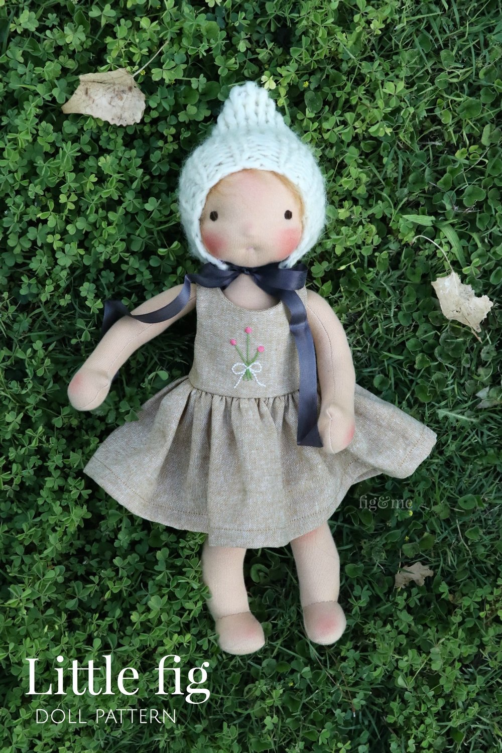 "The Little Fig doll pattern is available for your crafty hands. Create a 14"" doll with this sweet design, via fig and me."