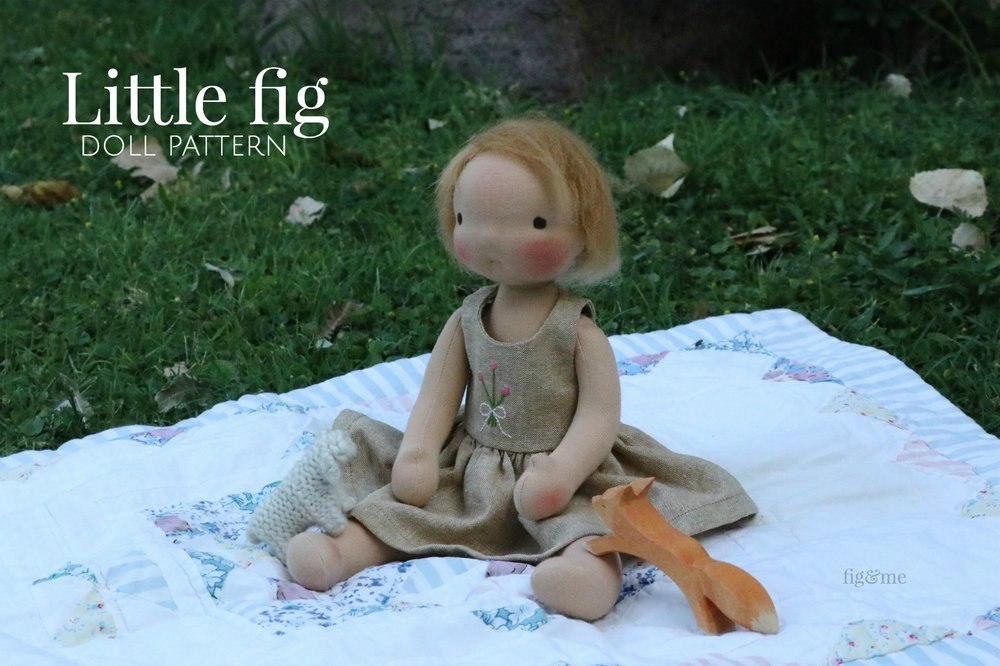 The Little Fig doll pattern by Fig and Me.