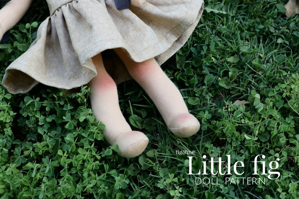 Cute little knees on the Little Fig doll pattern.