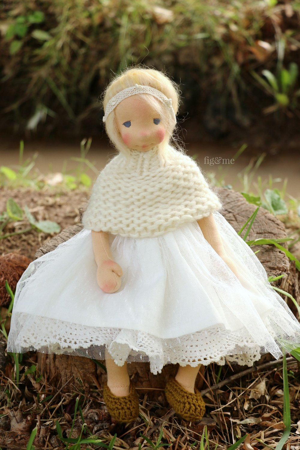 Millie, a poseable art doll by Fig and Me.