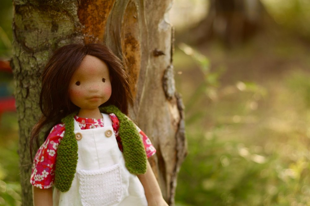 Cedar, an all-natural cloth art doll by Fig and Me.