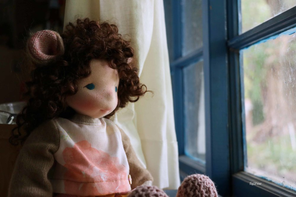 Pia, a natural fiber art doll by Fig and Me.