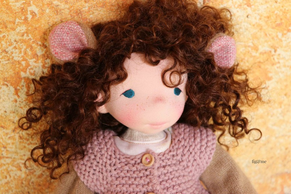 Little Pia, a natural cloth doll by Fig and Me.