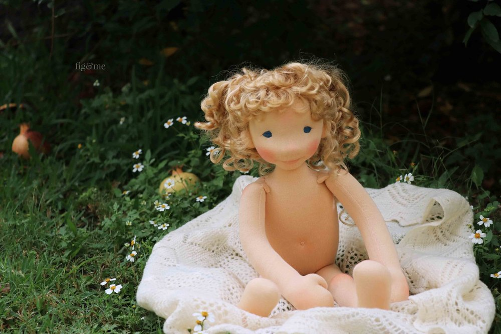 Little Amanda, a custom art doll by Fig and Me.