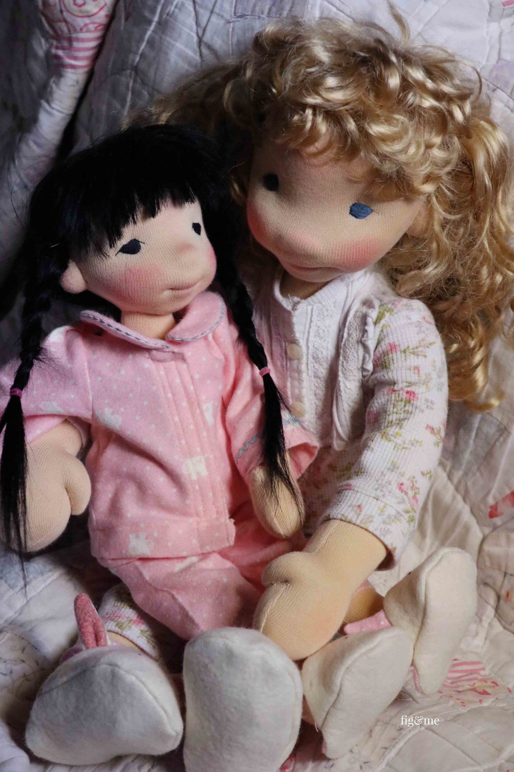 The dolls, I mean, the girls playing. By Fig and Me.