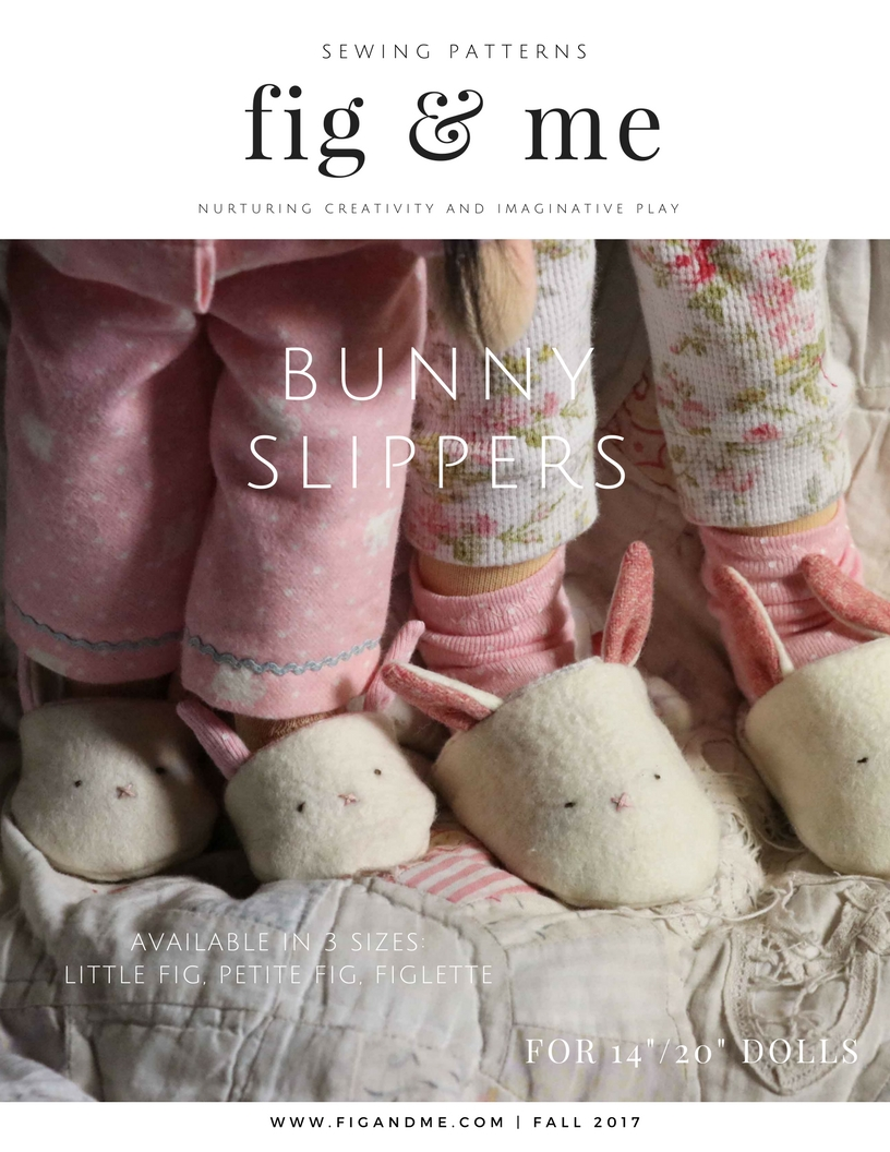 The Doll Bunny Slippers pattern is now available for your sewing hands. You can find it on http://figandme.etsy.com