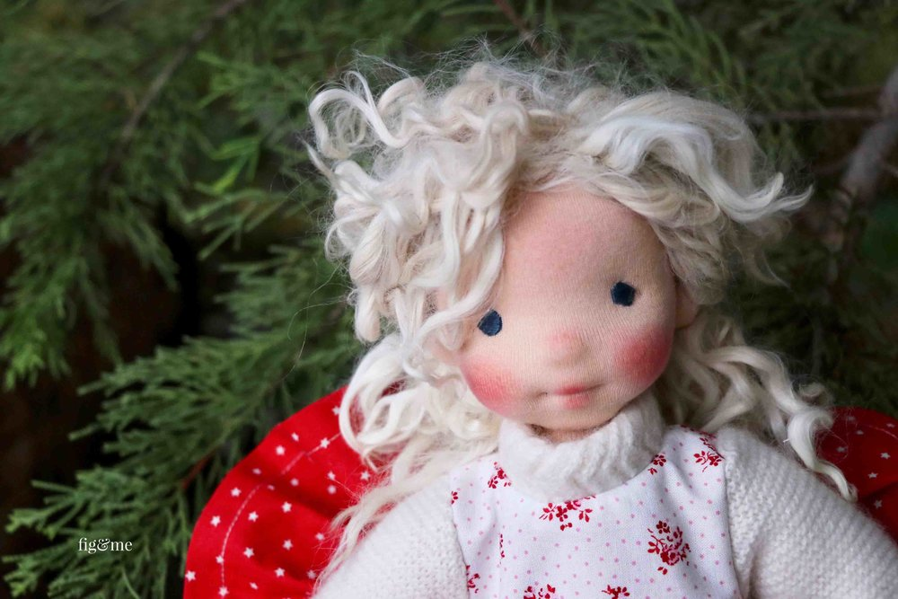 Rúna, the last doll of 2017 by Fig and me.