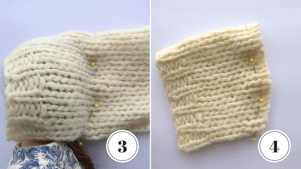 A sewing tutorial for making a doll hat with a sweater. via Fig and Me.