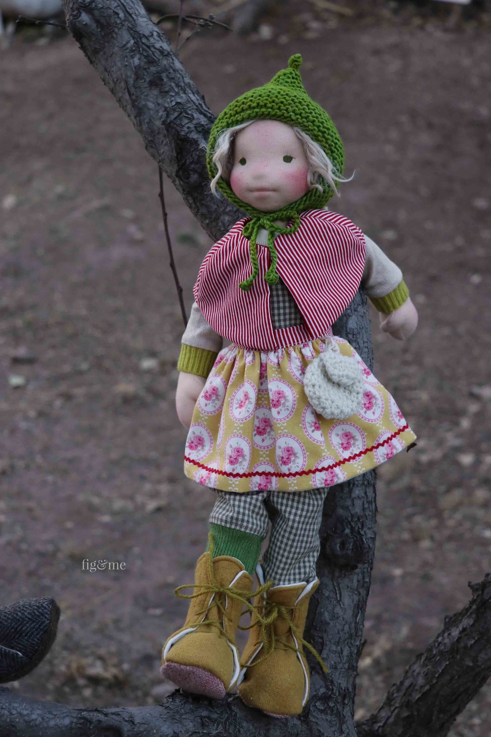 Another little doll climbing trees, by fig and me.