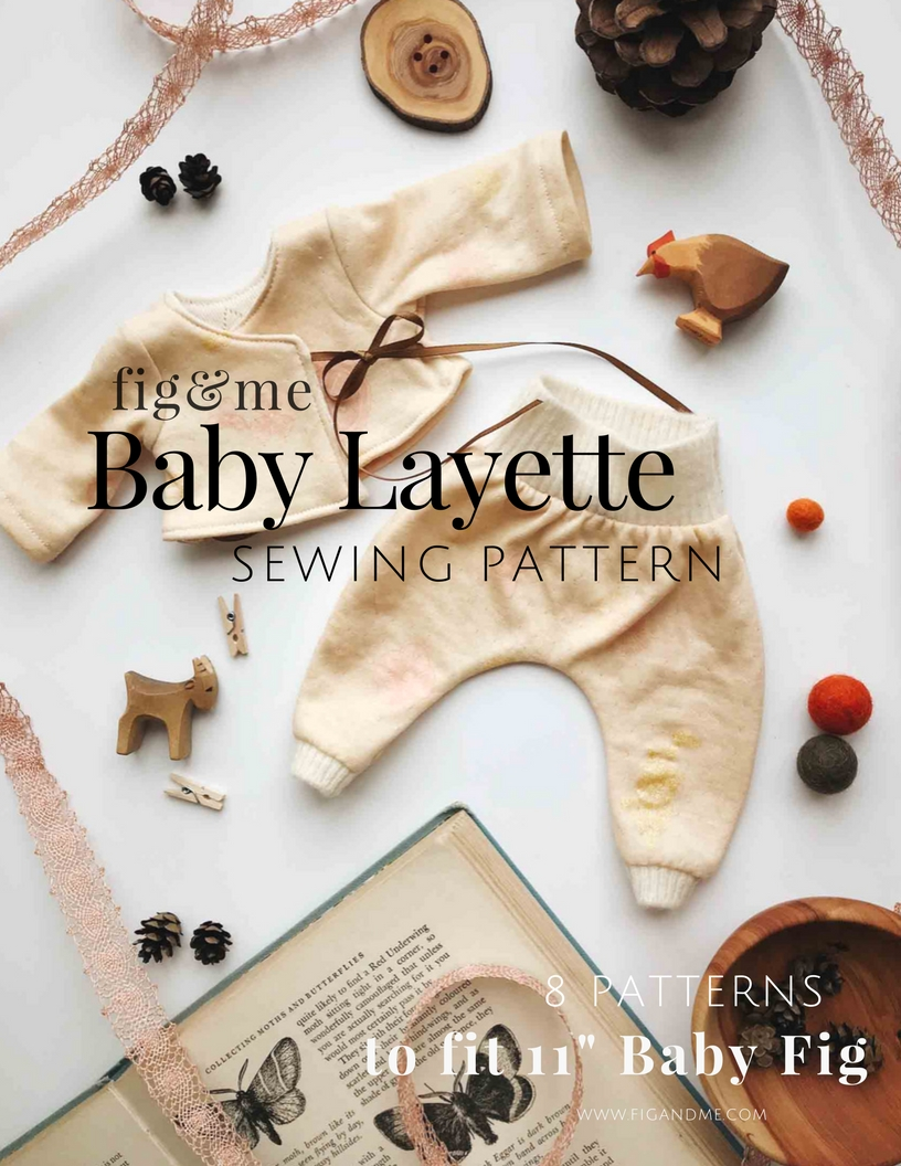 Use the Baby Layette sewing e-book to create a lovely clothing ensemble for your baby doll. Via Fig and Me.