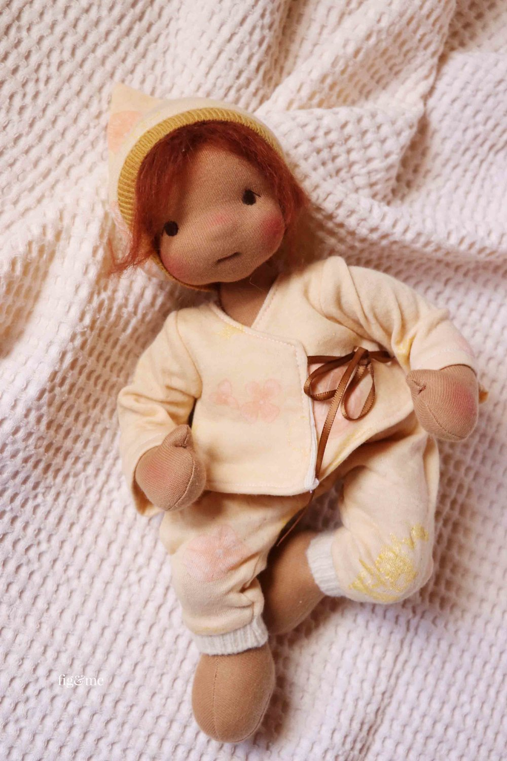 Baby Kasja, a baby cloth doll by Fig and Me.