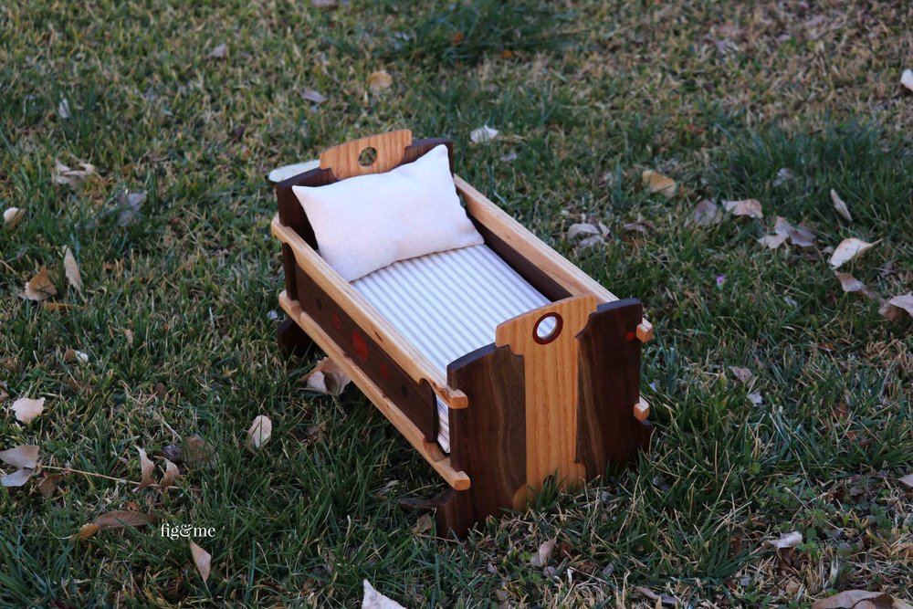 wooden cradle by fig and me