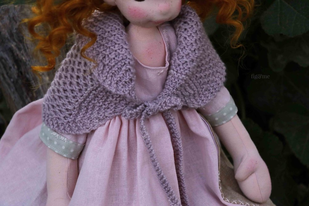 Orla, a Petite Fig by Fig and Me. In her linen dowry.