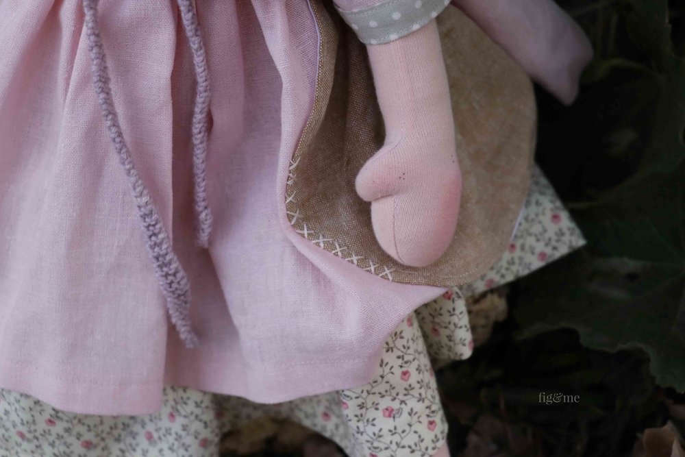 Linen doll clothes by Fig and Me.