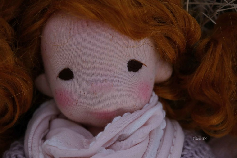 Orla, a little scoundrel by Fig and Me. art doll.