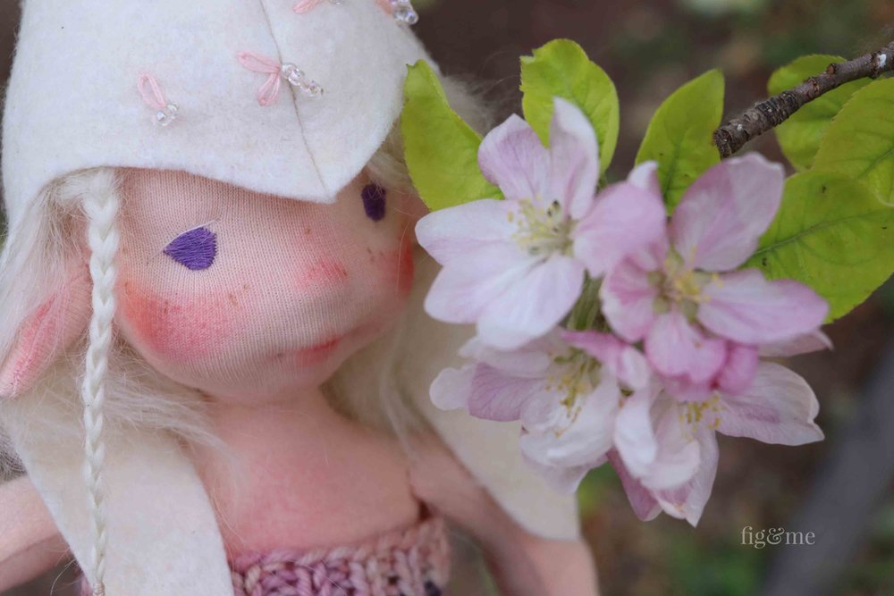Maedhbhina, a Spring fairy art doll by Fig and Me.
