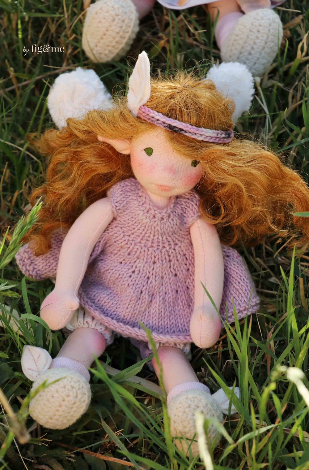 Beileag, a natural fiber art doll by Fig and Me.