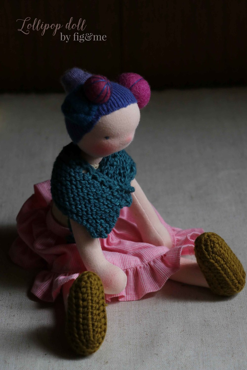 Lollipop doll by Fig and Me.